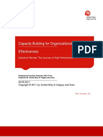 Capacity Building for Organizational Effectiveness