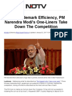 With Trademark Efficiency, PM Narendra Modi's One-Liners Take Down the Competition