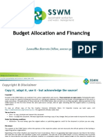 BARRETO-DILLON 2010 Budget Allocation and Financing