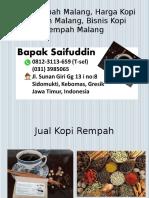 0812-3113-659 (T-sel) Kopi Rempah Malang, Harga Kopi Rempah Malang, Bisnis Kopi Rempah Malang