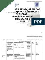 Rancangan Pengajaran Tahunan Pendidikan Moral Ting 5