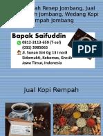 0812-3113-659 (T-sel) Kopi Rempah Resep Jombang, Jual Kopi Rempah Jombang, Wedang Kopi Rempah Jombang