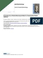Stewart (2014) Evaluating Use of Neutral Electrolyzed Wa