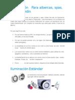 Iluminacion en Albercas