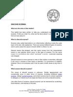 Discoid Eczema Update Apr 2013 - Lay Reviewed Nov 2012