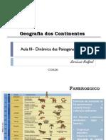 Aula IV - Dinâmica das paisagens (Paleozoico)