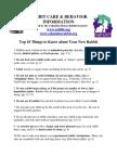 Rabbit Care and Behavior INFO