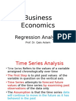 9. Business Economics -Regression Analysis