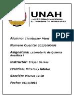 Informe Nitratos y Nitritos