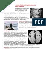 Glosario Acompañado de Imágenes Sobre El Pensamiento de Martin Heidegger