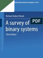 (Ergebnisse Der Mathematik Und Ihrer Grenzgebiete NF 20) Professor Richard Hubert Bruck (Auth.)-A Survey of Binary Systems-Springer-Verlag Berlin Heidelberg (1971)