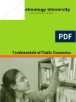 Fundamental of Public Economics