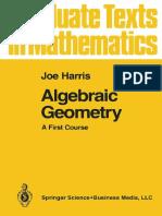 Algebraic Geometry,Joe Harris