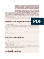 Contoh Permohonan Proposal Penelitian