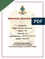 Derivatives- The Global Casino