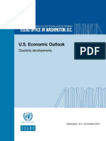 U.S. Economic Outlook Quarterly developments