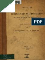 Festgabe Zu Bernhard Windscheids