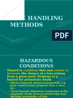 Risk Handling Methods