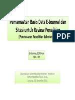 Pemanfaatan Basis Data E-Journal