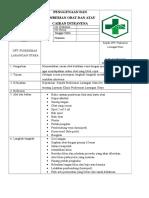 7.6.3.1. SOP Penggunaan Dan Pemberian Obat Danatau Cairan Intravena
