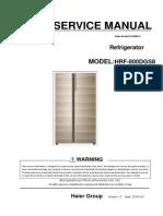 Haier HRF-800DGS8 Service Manual