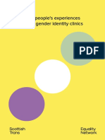 Non-binary people's experiences of using UK gender identity clinics