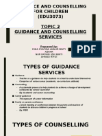 Topic 2 Guidance and Counselling for Children