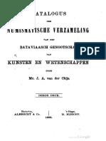 Catalogus der numismatische verzameling van het Bataviaasch Genootschap van Kunsten en Wetenschappen / door J.A. van der Chijs