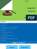 Service Tax Budget 2015
