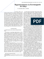 Anisotropic Magnetoresstance in Ferromagnetic 3D-Alloys