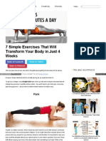 Brightside Me Article Seven Simple Exercises That Will Trans