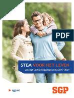 Concept Verkiezingsprogramma SGP