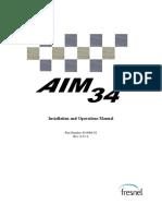Installation Operation Manual AIM34 IDU