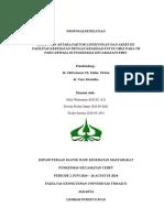 Proposal Penelitian Hubungan Antara Faktor Lingkungan Dan Akses Ke Fasilitas Kesehatan Dengan Kejadian Putus Obat Pada Tb Paru