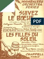 Armand Canfora - Suivez Le Boeuf - 1960 - Calypso Mambo - Band Sheet Music