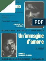 Pino Donaggio - Un'Immagine d'Amor - 1971 - Slow - Band Sheet Music