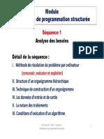 Séquence 1 - Analyse Des Besoins Pour Le Développement Des Applications Informatiques