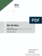 Rg 34 User-manual 1 5 0en