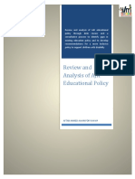Policy Review - AJK Educational Policies and Plans