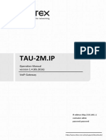 Tau 2m-Ip User-manual 1.13.1 En