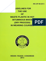 IRC SP 98 2013 Waste Plastic Dry Process
