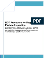 Magnetic Particle Test Inspection Free NDT Sample Procedure