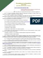 Lei 7.116 - Assegura Validade Nacional as Carteiras de Identidade