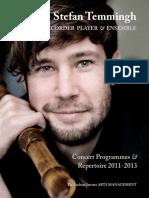 Stefan Temmingh Concert Brochure Eng