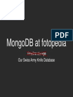 MongoDB, our Swiss Army Knife database.