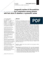 Performance of Prognostic Markers in Prediction of Wound Healing