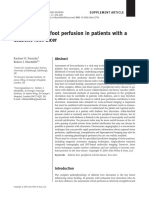 Assessment of foot perfusion in patients with diabetic foot ulcer