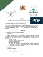Arrêté Portant Organisation Financière Et Comptable