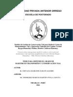 documento sobre mantenimiento sobre carreteras