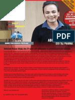 Abhishek Kumar Singh, The 21-Year-old Millionaire in Pharmaceuticals Industry